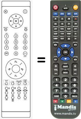 Replacement remote control for RC1050