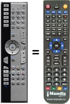 Replacement remote control for 40023398
