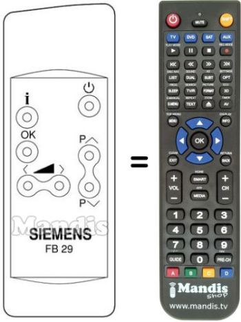 Replacement remote control FC 210 K6